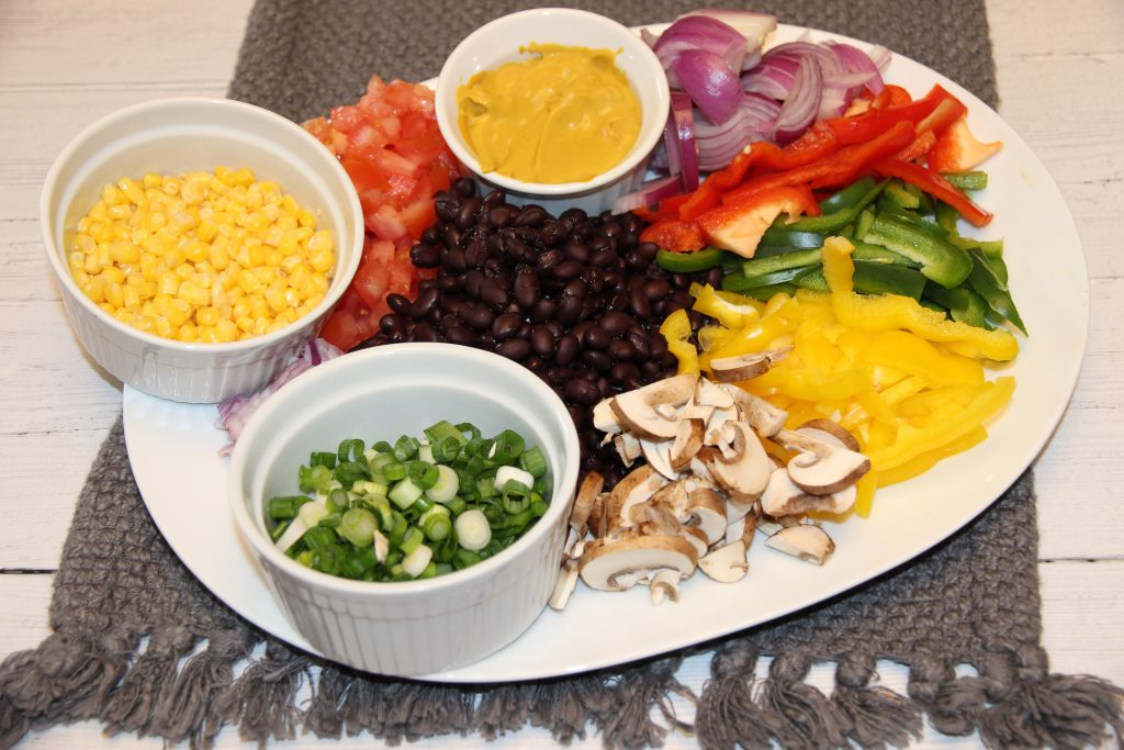ingredients needed for vegan quesadillas