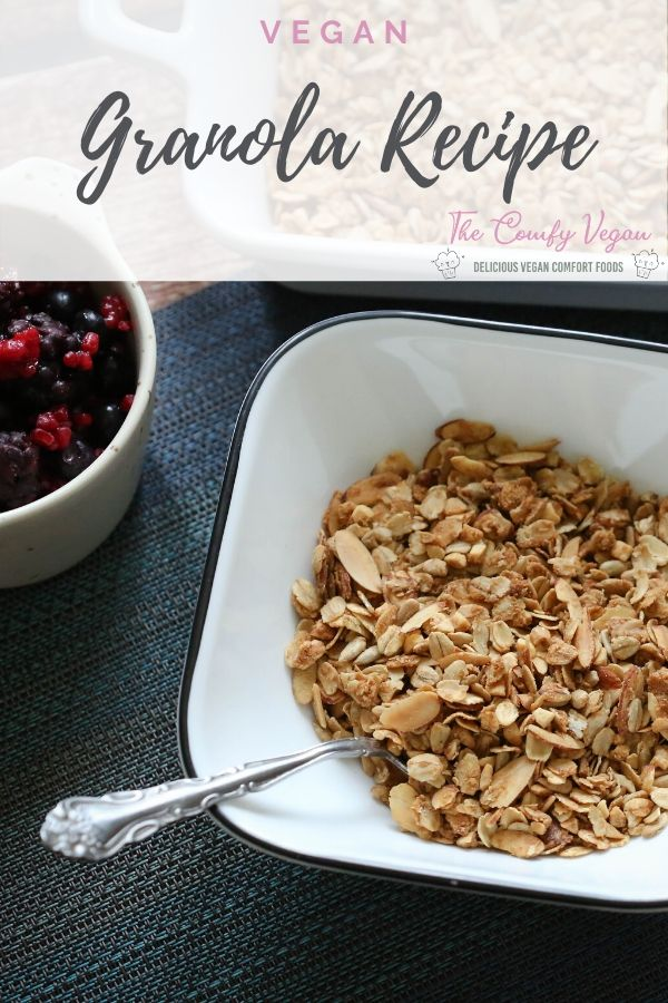 This vegan granola recipe is so simple and easy to make. It's packed full of taste and will give you something healthy to eat and snack on.