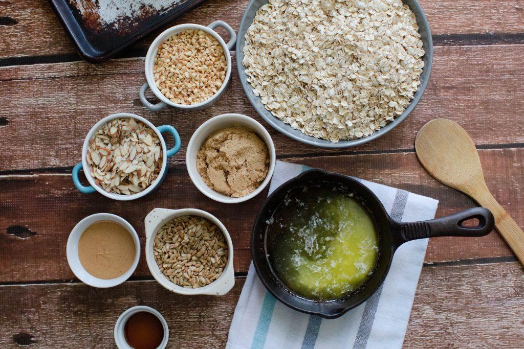 ingredients for vegan granola recipe