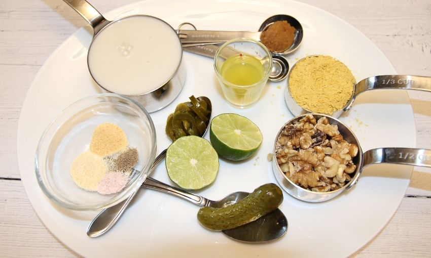 ingredients needed for vegan queso recipe